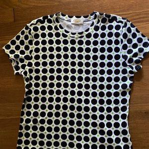 Talbots polka dot tshirt